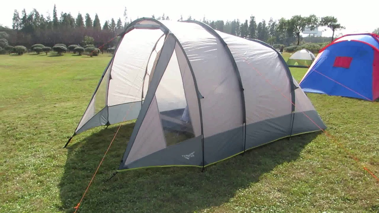 5 Person Tunnel Camping Tent With 1 Sleeping Room and ...