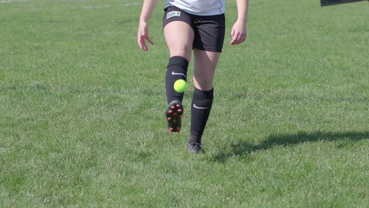 Advanced Soccer Drills: Juggling a Tennis Ball. DICK'S Sporting Goods