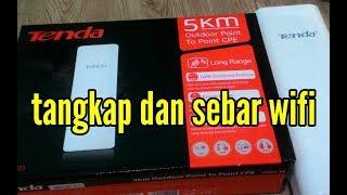 menangkap dan menyebar wifi 5KM pakai hp || acces point tenda o3 5KM #2