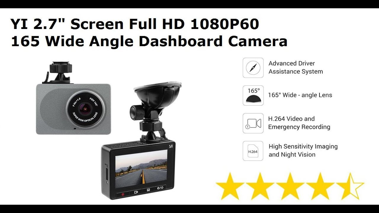 "2.7/"" Screen Full HD 1080P60 165Wide Angle Dashboard Camera Car DVR Vehicle Cam"