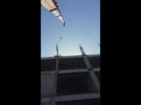 Nk 100 ton kato crane work in doha 39/km/h weind in work