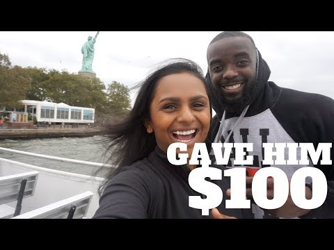 He Gave Him A $100! | Statue Of Liberty & Time Square