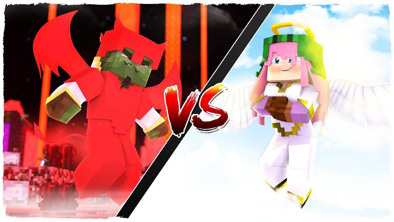👉 Armadura de DIOS vs armadura de DIABLO - MINECRAFT - YouTube