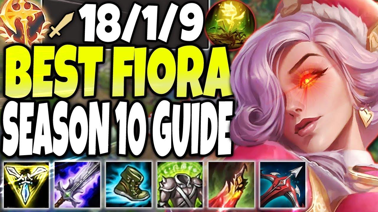 150 000 Damage 1v9 Fiora Monster Best Fiora Season 10 Build Guide Lol Top Lane Fiora S10 Gameplay Youtube