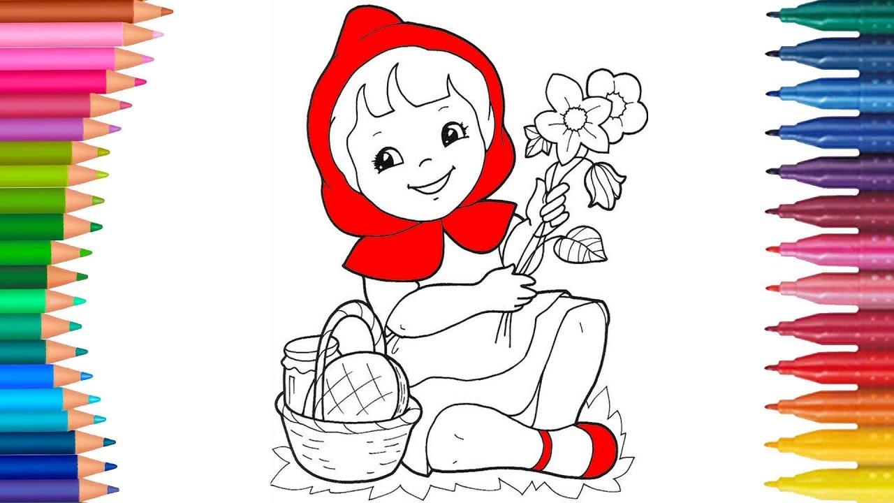 Come Disegnare Cappuccetto Rosso Piccole Mani Libro Da Colorale