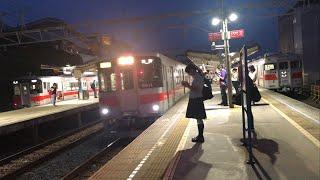 夜の山陽電鉄本線   山陽須磨駅