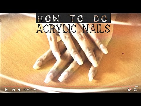 How to do Acrylic nails at home | Tutorial