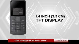 I KALL K73 Single SIM Bar Phon…
