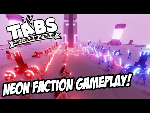 TABS NEW UNITS Neon Faction Gameplay UPDATE! Tesla, Gravity Dude - Totally Accurate Battle Simulator