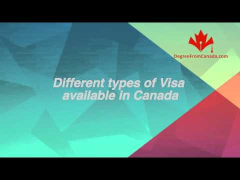 Different types of Visa available in Canada
