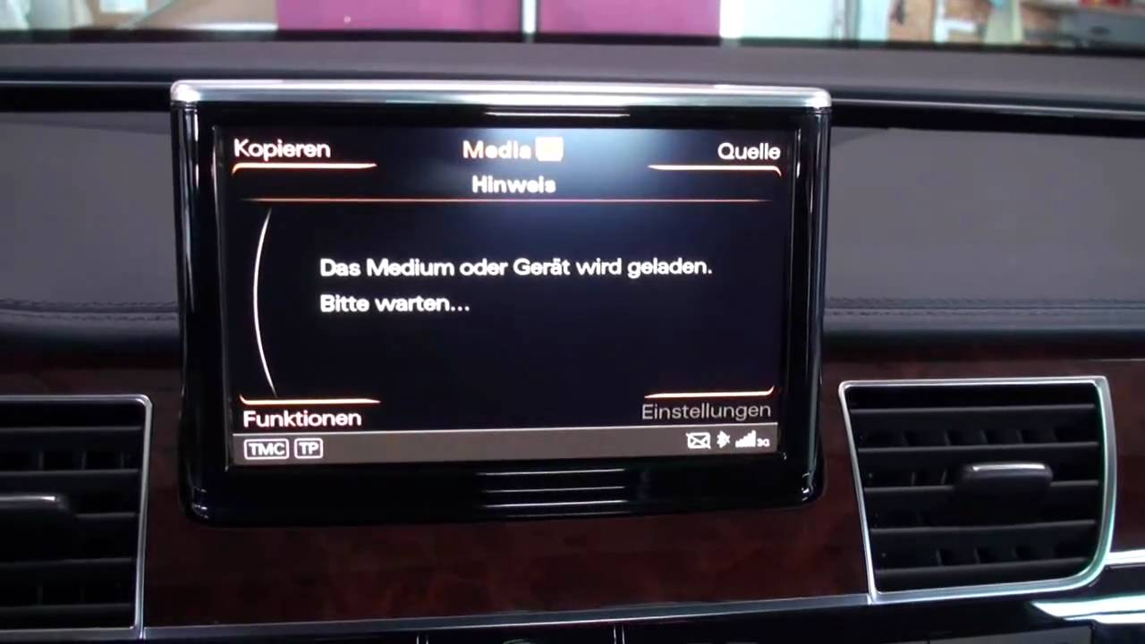 neuer audi a8 2011 mit rear entertainment mmi 3g by conexx. Black Bedroom Furniture Sets. Home Design Ideas