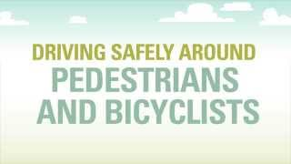 Driving Safely Around Pedestrians and Bicyclists