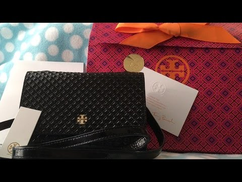 a158b0be8c28 Unboxing   Reveal of my Tory Burch Marion Embossed Patent Shrunken Purse