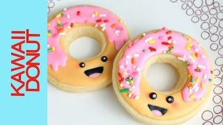 Kawaii Decorated Donut Cookies, Dessert Network Kawaii Collaboration