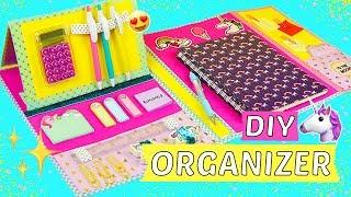 DIY ORGANIZER SELBER MACHEN  🦄 BACK TO SCHOOL DIYs 😍Schulsachen organisieren & aufräumen! 📚