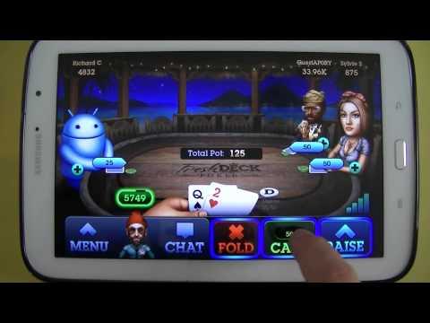 Gameplay ANdroid - Fresh Deck Poker - Samsung Galaxy Note 8 N5110 - PT-BR - Brasil