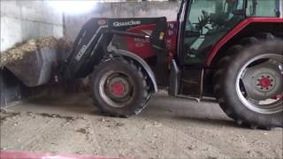 Repeat youtube video cleaning the silage clamp with tractors