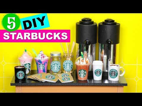 5 DIY Starbucks Coffee Crafts for Dolls