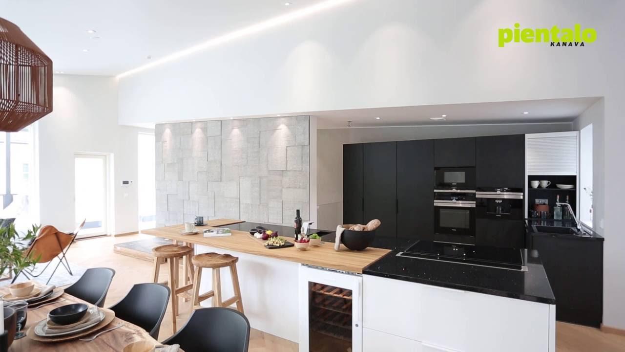 Pientalokanava Esittelyssä moderni mustavalkoinen keittiö  YouTube