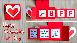 Easy and beautiful card for friendship day/ Friendship day card making ideas/DIY Friendship day card