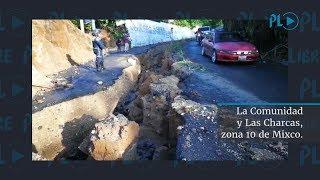 Carretera dañada entre La Comunidad con Las Charcas | Prensa Libre