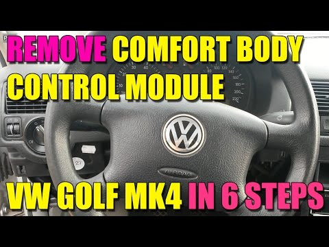 How to remove / change the comfort body control module  (CCM) on VW Golf mk4, Bora, Jetta in 6 steps