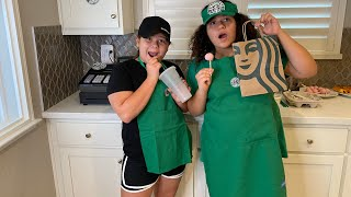 We turned Our HOUSE into a STARBUCKS drive thru
