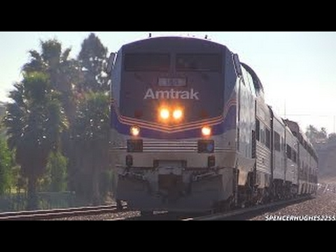 Amtrak Trains - WWII Pearl Harbor troop train featuring P42DC #42 (December 7th, 2013)