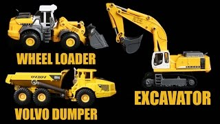 Learning Construction Vehicles Names & Sounds for Kids| Learn Excavator, Dumper, Wheel Loader & more