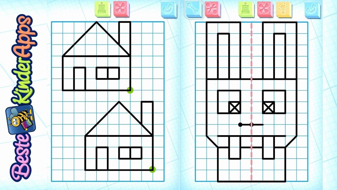 Symmetrie Übungen für Kinder als App mit Vorlagen 📐 Schüler Apps ...