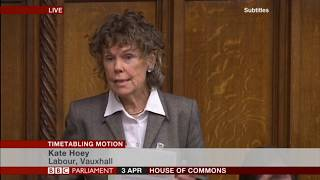 Kate Hoey MP at the Timetabling Motion debate