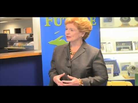 Sen. Debbie Stabenow visits Borg Warner in Cadillac Michigan