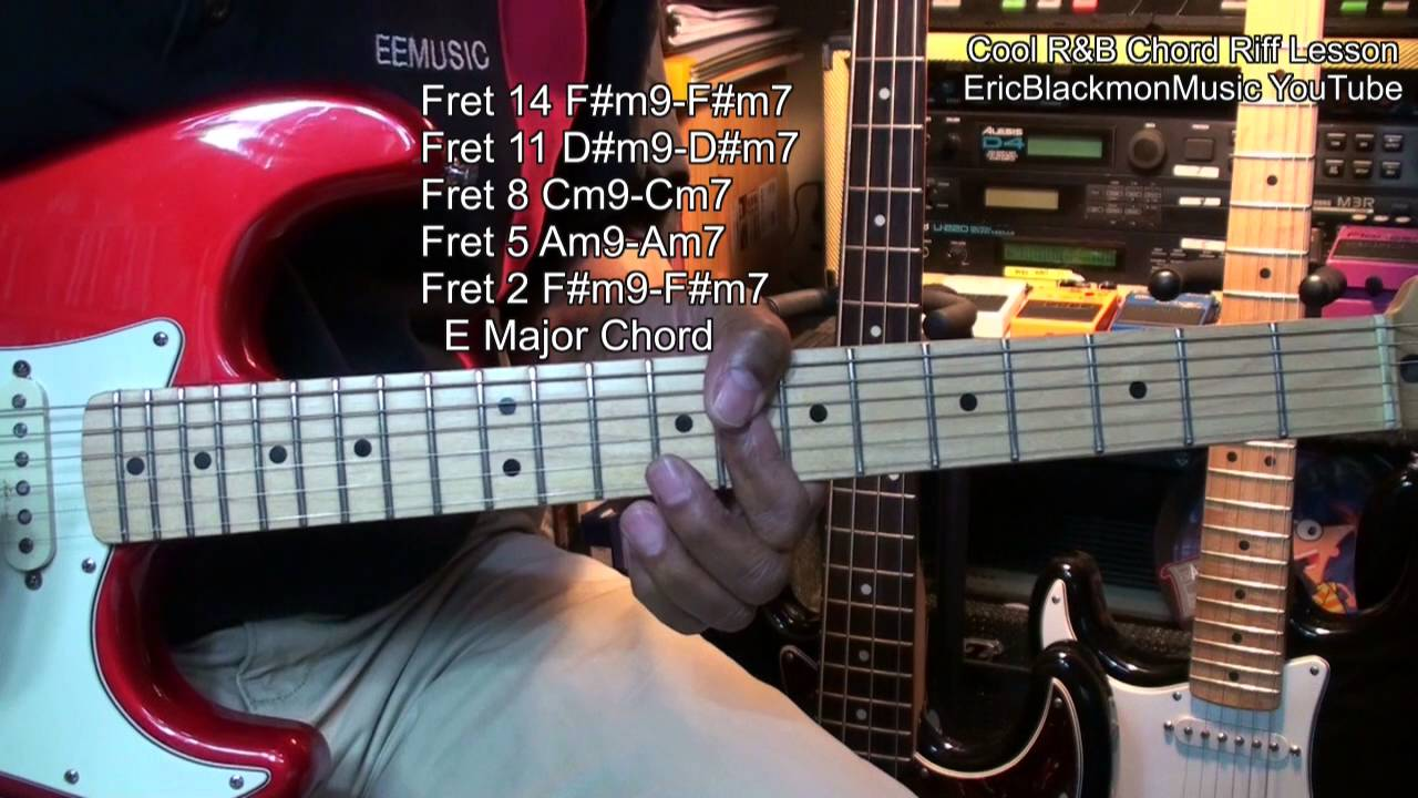 How To Play A Cool Min7 Min9 Rb Chord Progress Riff On Guitar
