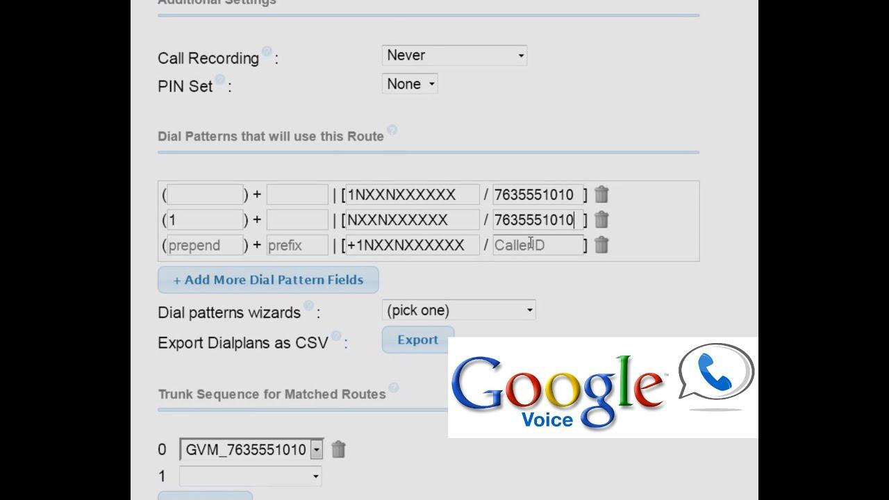 FreePBX VoIP Tutorial Part 7 - Configuring Google Voice