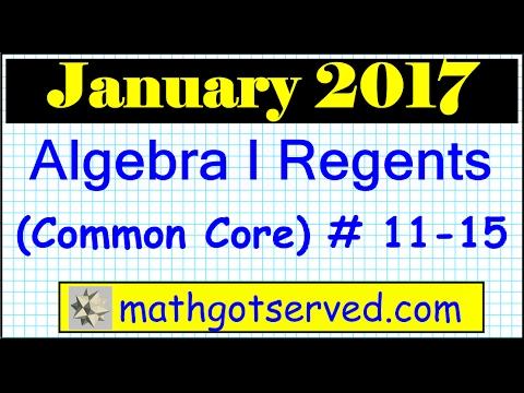 january 2017 algebra 1 11 to 15 nys regents exam common. Black Bedroom Furniture Sets. Home Design Ideas