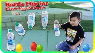 Bottle Flip for Easter Eggs Surprise - TigerBox HD