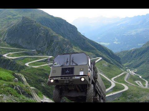 Swiss Army SAURER 6DM - Gotthardpass (including Lower Part Of Tremola!)