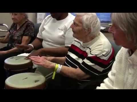 Patients take part in the Music Therapy Program at Northern Westchester Hospital.