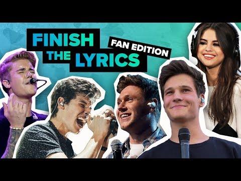 Lyric Challenge: Kannst du die Songs weitersingen? Teil 1   Digster Pop