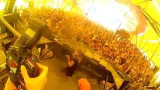 Dj Cheve ninja GoPro Mode  With Sally Doolally Rocking Alchemy Circle Stage at Boom Festival 2014