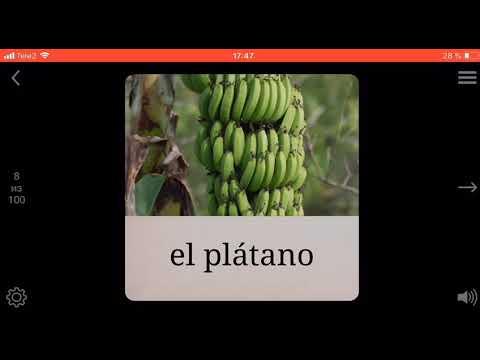 Учим название еды на испанском