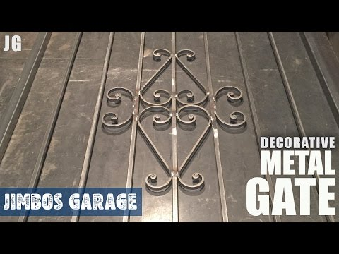 Decorative Metal Gate - Jimbos Garage