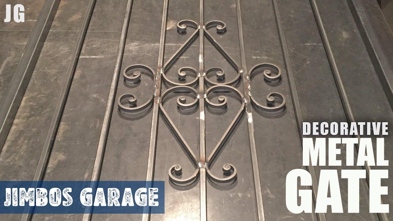 Decorative Metal Gate   Jimbos Garage   YouTube