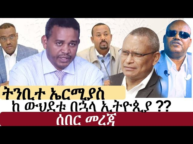 Ermiyas Legesse ON EPRDF Merger