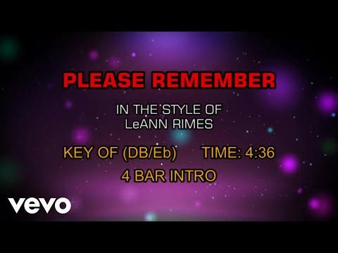 LeAnn Rimes - Please Remember (Karaoke)