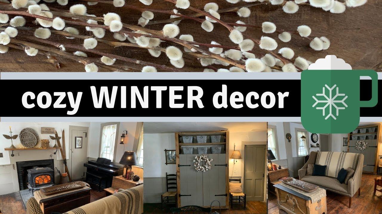 Cozy Winter Living Room Decor Farmhouse Primitive Country Tour Youtube