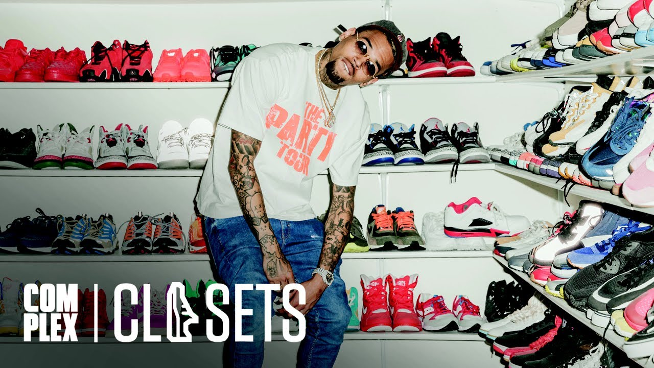 cc81f8e5fde1 Chris Brown Shows Off The Most Insane Sneaker Collection We ve Ever Seen On  Complex Closets