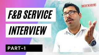 F&B Service Interview Questions And Answers