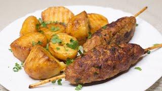 НЕРЕАЛЬНО ВКУСНО ЛЮЛЯ КЕБАБ НА СКОВОРОДЕ с картошкой Потрясающее горячее блюдо 59