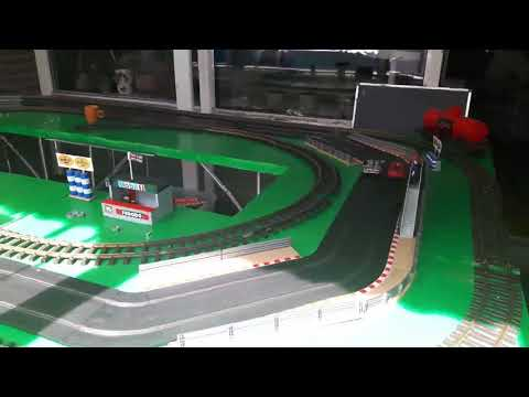 Scalextric basisbaan test .